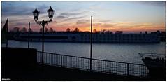 When the night comes (rasafo66) Tags: duisburg duisburgruhrort duisburghafen nrw nordrheinwestfalen deutschland hafen harbor harbour bluesky blauerhimmel binnenschiff schiffe sonyalpha58 sigma18200 blaue stunde bluehour sonnenuntergang sunset coucherdusoleil