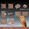 Owls of Athens by Alex Morgan (Spellstone) Tags: owl bird terracotta greek greece greekart spellstone spoonflower roostery art craft design surface pattern society6 alexmorgan pillow cushion phonecase textile fabric wallpaper totebag tote clock wallclock mug rug pouch laptopskin clothing apparel sewing curtains