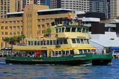 Borrowdale, Circular Quay, Sydney, September 14th 2014 (Southsea_Matt) Tags: borrowdale firstfleetclass sydneyferries circularquay sydney newsouthwales australia september 2014 spring canon 60d passengertravel publictransport sea harbour wharf ferry boat ship vessel