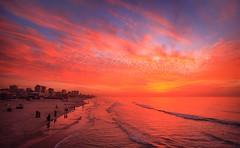 Amazing sunset over sea shore of Gaza (TeamPalestina) Tags: gaza palestinian sun sunset sunrise sweet sky beautifull comfort live sunrays photo photographer aliashour landscapecaptures natural تصويري palestine landscape landscapes nice am amazing