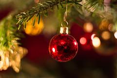 Christmas Lights (Theo Crazzolara) Tags: christmas ball christmasball celebration decoration christmastree vacation holiday december winter weihnachten christbaum christbaumkugel macro closeup bokeh beautiful lights romantic idyllic