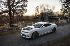 taking the scenic route (S_D_Smith) Tags: camaro 1le barn sunset country dirt road fence dirtroad musclecar muscle