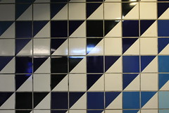 Five shades of blue (hajarboudaya) Tags: blue tiles architecture oslo grønland