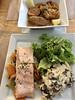 Chai Pascal Saint Emilion, France, Salmon & Cassoulet (Nancy D. Brown) Tags: cassoulet salmon chaipascal saintemilion france basquecountry nouvelleaquitaine restaurant food