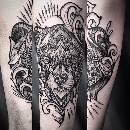 Ayrton sickbird tattoo bear mandala