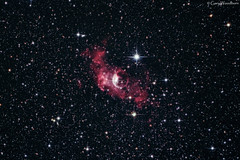 The Bubble Nebula - NGC 7635 (Gary Woodburn) Tags: ngc 7635 bubble nebula skywatcher 130 pds heq5 pro canon 600d astro modified