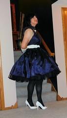 Blue 4 (Deedee Fullskirt) Tags: transvestite petticoat fullskirt crossdresser highheels