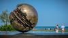 Sfera Grande, Alvaro Pomodoro (HeinzDS) Tags: italien2013marken pomodoro pesaro sfera grande alvaro art sculpture