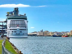 Adventure of the Seas in his homeport in San Juan, PR. (E S M Photography) Tags: port boats clouds royalcaribbean seas adventure iphonex iphone puertorico sanjuan vacation crucero cruise