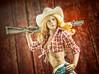 Cowgirl II (Mr Action Figure) Tags: 16 16scale phicen tbleague femalefigure female cowgirl shotgun barn boots cowboyhat western farm denimshorts muddy dirty blonde doll toy actionfigure