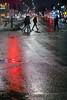 Red on wet / Rouge mouillé (Jacques Lebleu) Tags: wetpavement reflection red night pedestrians walking cars