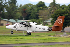 Fiji Link DHC-6-400 Viking Twin Otter DQ-FJS departing NAN/NFFN (Jaws300) Tags: de havilland canada dhc6 twin otter dehavilland twinotter dehavillandcanada twotter dhc6300 commuter plane turbo propeller turboprop fiji link fijilink parking stand gate terminal nadi nan nffn airport ramp apron green greenery scenic paradise stormy south pacific southpacific island islands regional airplane dqfjs taxiing dhc6400 vikingtwinotter viking series400 series 400 new viking400 grass tree sky aircraft departing takeoff prattwhitney pt6