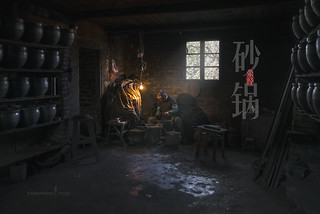 YingJing earthenware cooking pot factory, China