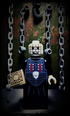 Such Sights to Show You (LegoKlyph) Tags: lego custom brick pinhead horror cenobite monster barker clive demons box torture movie classic 80s hell scrub block mini figure