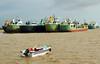 Naval Road,Chittagong,Bangladesh (Saimul Hassan) Tags: bangladesh chittagong water ship bayofbengal sky speedboat boat tanker nature landscape vessel pottenga sea