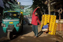 Good morning (SaumalyaGhosh.com) Tags: morning kolkata india street streetphotography people color light warm fuji