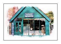 Photographer shop (Audrey A Jackson) Tags: canon60d blistshill ironbridge livingmuseum shop photographershop advertising history colour window door 1001nights