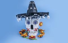 Calavera (svenfranic) Tags: lego bricks moc skull calavera diadelosmuertos dayofthedead sombrero mexican aztec