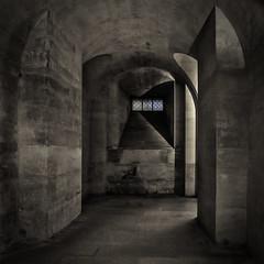 Blue Light Yonder (ArtfulAl ... back again.) Tags: paris crypt lowlight lumix lx5 panasonic