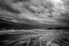 Bodie Lighthouse Beach Sky Heavy 2 In Monochrome (Modkuse) Tags: waves clouds northcarolina nc outerbanks storm bodie