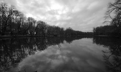 Deep Lake, Sauvie Island (Big Jared) Tags: deeplake sauvieisland oregon bw wide angle