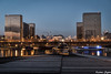 BnF (karmajigme) Tags: bnf bibliothèque library mitterrand monument paris buildings bridge pont seine city lights color travel reflection nikon