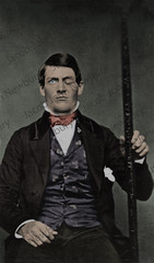 Phineas Gage 1850s (Newbury Photograph Restoration) Tags: 1850s phineas gage american railroad impaled survivor