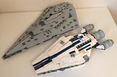 Arquitens-class Light Cruiser MOC (FxanderW) Tags: lego starwars moc custom ship starship capital rebel alliance arquitens cruiser stardestroyer republic corvette mini