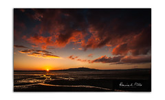 And So To Bed   [Explored] (RonnieLMills) Tags: sundown sunset last light scrabo tower low tide strangford lough portaferry road newtownards county down red yellow fiery clouds explore explored 140118 78