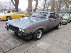 Ford Capri 2.8 Injection Special B204YUH (Andrew 2.8i) Tags: queen queens square bristol breakfast club classic classics car cars show meet mark 3 mk mk3 hatch hot hatchback v6 cologne sports sportscar coupe special injection 28 capri ford