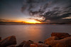 Red Rocks (Fabrizio Contu) Tags: cagliari sardegna sardinia seaport sea landscape seascape sunset sky clouds water fujifilm samyang