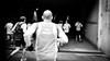 [ running ] ([ changó ]) Tags: mobile wwwriccardoromanocom bw bn blanco negro bianco nero black white byn blackandwhite monocrhome monocromo monocromatico monocromatica people person persona gente persone street shot streetshot corsa correre lacorsadimiguel roma rome corridori correndo smartphone samsung