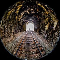Somehow I Will Know (Thomas Hawk) Tags: america glendale julia juliapeterson oregon southernoregon usa unitedstates unitedstatesofamerica mrsth spouse traintracks tunnel wife fav10 fav25 fav50 fav100