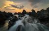 Lava Flow (Tom Yessis) Tags: hawaii bigisland beach water waves wideangle wave landscape longexposure lava clouds glow sky sunset seascape sea sunshine shadows canon canonphotography color coast kona konasunset