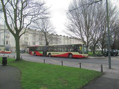 Brighton & Hove Bus 126 at Palmeira Square, Hove. (ManOfYorkshire) Tags: mercedes citaro bendy bendybus articulated brightonhove buses 126 bl57oxp route25 university palmeirasquare terminus resting london londongeneral mal112