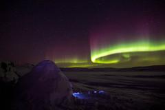 Shelter from the cold (Clare Kines Photography) Tags: arctic timelapse nunavut northernlights adamssound arcticbay patatalik syrpgeniemini aurora auroraborealis starts canada iglu igloo night north