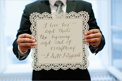Quotes About Wedding : wedding sign | F Scott Fitzgerald quote | doily inspired wedding signage | #wedd… (quotesboxes) Tags: quotes life love