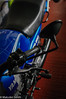 Candy Blue (M C Smith) Tags: motorcycle pentax k7 blue red black yamaha rd250lc floor concrete boxes green