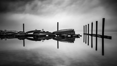 Off season (Sebo23) Tags: reflections reflektionen bodensee lakekonstanz radolfzell bw water longtimeexposure langzeitbelichtung canon6d canon16354l