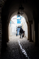 Arch (GavinZ) Tags: northafrica tunis tunisia medina travel arch street water narrow