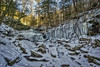 R.B Ricketts Falls (wide view), 2018.01.10 (Aaron Glenn Campbell) Tags: rgsp rickettsglen statepark fairmounttownship luzernecounty pennsylvania 3xp ±2ev hdr macphun aurorahdr2017 nikcollection colorefexpro viveza on1effects outdoors nature optoutside dcnr pawaterfalls waterfall rbrickettsfalls glenleigh winter snow ice frozen sony a6000 ilce6000 mirrorless rokinon 12mmf2ncscs primelens manualfocus emount