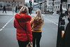 Red and Yellow (Kostas Katsouris) Tags: notes vsco fujifilm xt10 fuji city candid round berlin germany big architecture people group shape line urban street lines yellow red contrast station metro magazine art artistic composition road