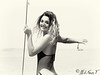 Claudia. (mikifano.it) Tags: ritratto portrait sea swimwear blackwhite bw bianconero mikifano