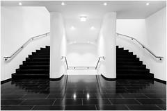 stairwell (ingrid.lowis) Tags: stairwell bw monochrom officebuilding teppenhaus architecture hamburg
