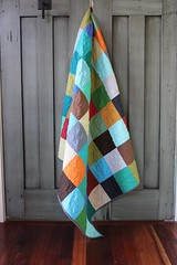A simple patchwork quilt (Shiners view) Tags: patchwork solid quilt modern