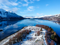 20180120-DJI_0009 (427photography.com) Tags: 427photographycom glencoe islands scotland water ice boat 427photography mountains pap trees