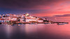 Ferragudo on Fire (Adam West Photography) Tags: adamwest afterglow algarve arade boats castle catholic church clouds composition dusk ferragudo fishing fort goldenhour longexposure palmtree portugal redsky restaurants river sea sunset village white whitewashed