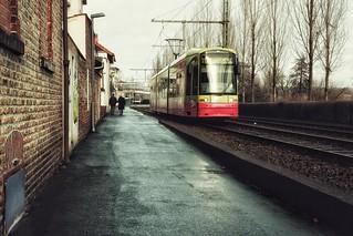 Mit der Tram unterwegs...