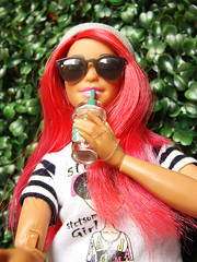 Curvy MTM (FreeRangeBarbie) Tags: barbie curvy madetomove 2018 selfie starbucks coffee hipster girl portrait fashiondoll