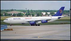 SU-GBN - Frankfurt am Main (FRA) 10.05.1997 (Jakob_DK) Tags: a342 a340212 airbus airbusa340 a340 a340200 airbusa340212 eddf fra flughafenfrankfurtammain frankfurtairport msr egyptair 1997 sugbn